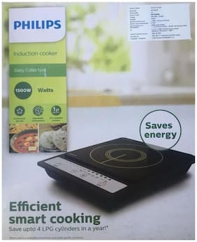 Philips HD-4920 1500W 1500 W Induction Cooktop ( Black , Push Button Control)