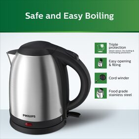 Philips HD 9306 1.5 L Electric Kettle (Silver)