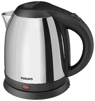 Philips HD-9303 1.2 L Electric Kettle (Silver & Black)
