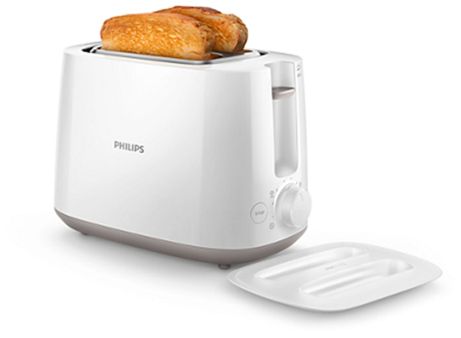 Philips HD2582/00 2 Slice Pop Up Toaster (White)