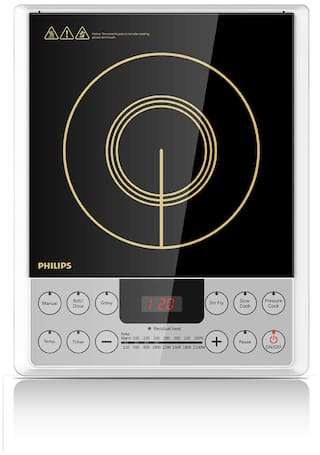 Philips HD4929 2100 W Induction Cooktop ( Black , Push Button Control)