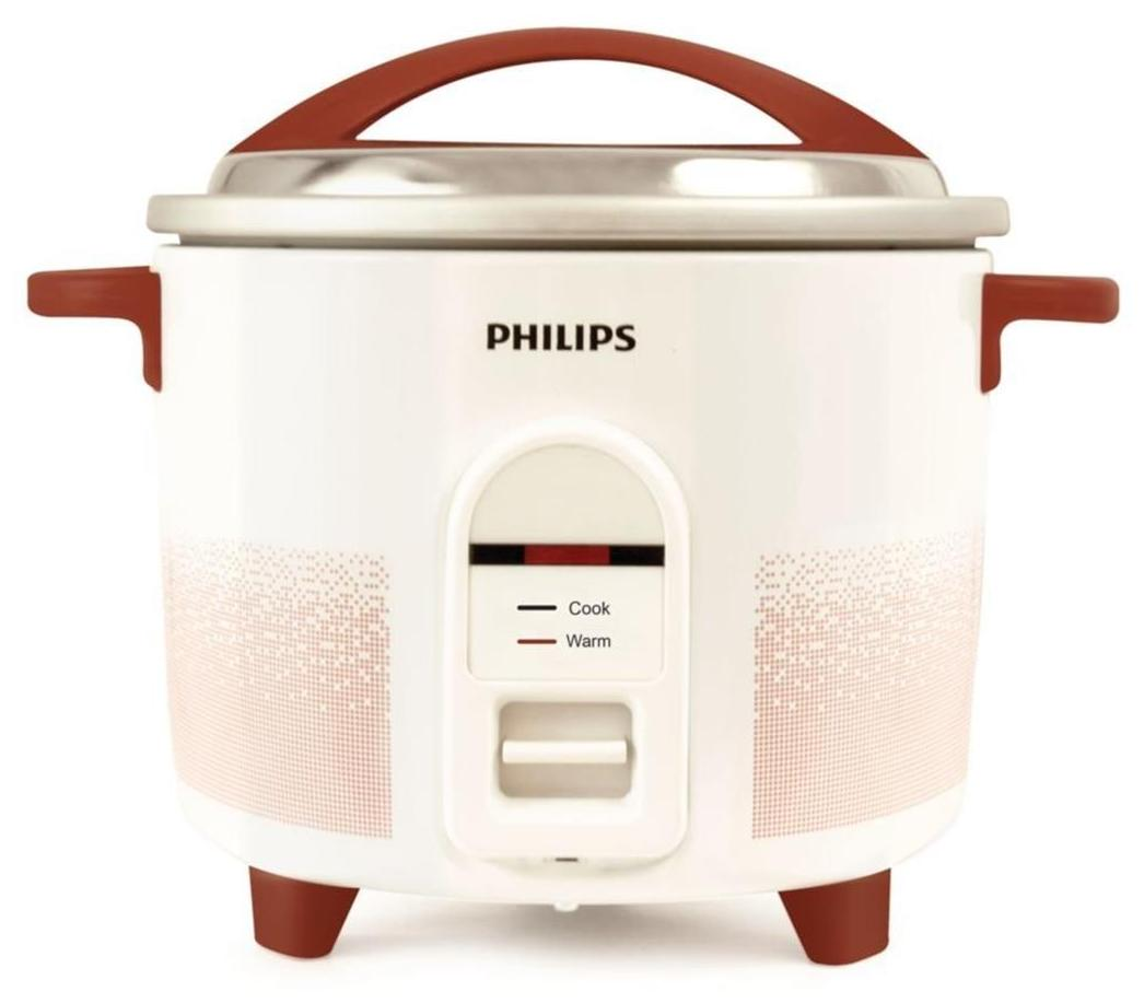 Philips HL1665/00 1.8-Litre Electric Rice Cooker (White/Red)