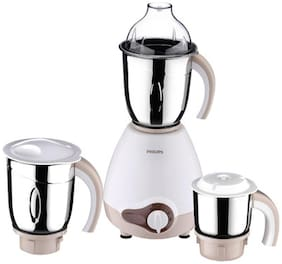 Philips HL1646 600 W Mixer Grinder ( White & Brown , 3 Jars )
