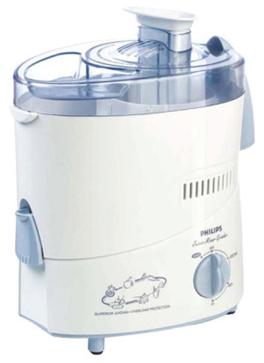 Philips HL1631/J 500 W Juicer (White & Blue)