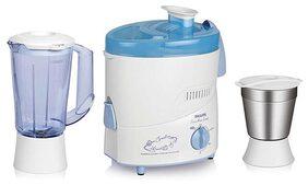 Philips HL1631 500 W Juicer Mixer Grinder (White & Blue/2 Jar)