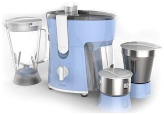 Philips HL7576/00 600 W Mixer Grinder ( Blue & White , 2 Jars )