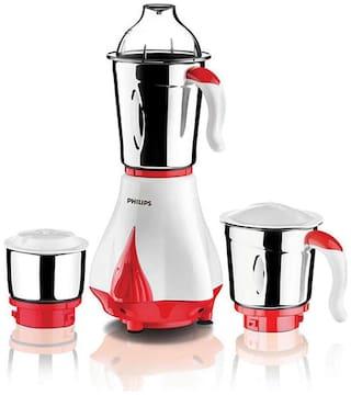 Philips HL7510 550 W Mixer Grinder ( Red & White , 3 Jars )