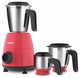 Philips HL7505/02 500 Mixer Grinder ( Red , 3 Jars )