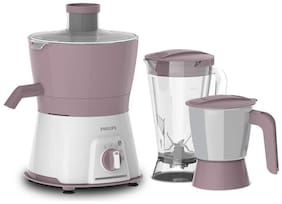 Philips HL7578/00 600 Juicer Mixer Grinder ( Purple , 2 Jars )