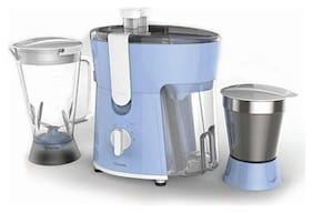 Philips HL7575/00 600 W Juicer Mixer Grinder ( Blue & White , 2 Jars )