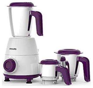 Philips HL7505/00 750 W Mixer Grinder ( White & Purple , 3 Jars )
