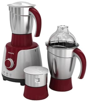 Philips HL7720 750 W Mixer Grinder ( Red & Silver , 3 Jars )