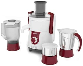 Philips HL7715 700 W Juicer Mixer Grinder ( White & Red , 3 Jars )
