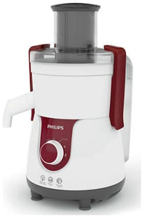 Philips HL7705 700 W Juicer ( White & Red , 1 Jar )