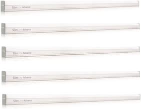 Philips Slimline Advance 30 Watt Metal LED Batten Cool Day Light Straight Linear LED Tube Light (White;Pack of 5)