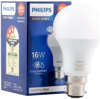 Philips Stellar Bright 16 Watt LED Bulb,Base B22 (Cool Day Light)