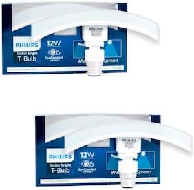 Philips T Bulb Curve   12 Watt, Base B22 (Cool Day Light, Pack of 2)