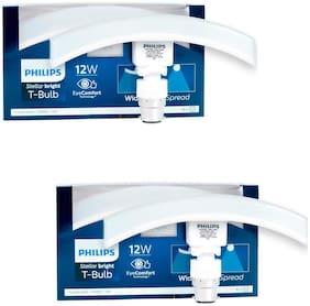 Philips T Bulb Curve | 12 Watt, Base B22 (Cool Day Light, Pack of 2)