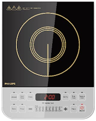 Philips HD4928 2100 W Induction Cooktop ( Black , Touch Panel Control)
