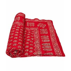 Phoenix International Abstract Jaipuri Traditional Multicolor Double Printed Razai,Quilt A/C Quilt