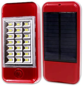 Pick Ur Needs Solar Power Bank Cum 21 Hi-Bright Led Lantern Emergency Light(Red)