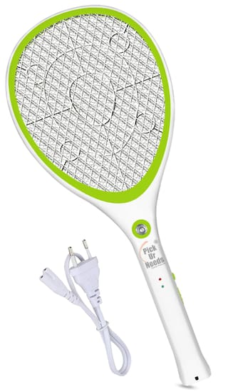 Pick Ur Needs Rocklight Best High Range Mosquito Racket/Bat with Torch with Wire Charging