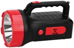 Pick Ur Needs Rechargeable High Range Emergency Search Torch Light 75 Watt Laser + Side 2 Tube Emergency Light Torch (Multicolor)