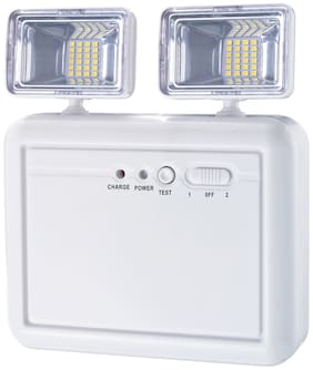 Pick Ur Needs Rocklight Wall Mounted with Portable Emergency Light with Twin Spot Light
