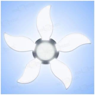 Pick Ur NeedsA   B22 Foldable Light,Fan Blade LED Light Bulb,Super Bright Angle Adjustable Home Ceiling Lights,AC95-265V,Cool White Light (60) (6 Fan)