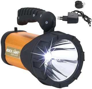 Pick Ur Needs Rocklight Metal 50w Rechargeable Waterproof Bright Led Torch Light Laser Long Range Distance High Power Search Light Kisan Rechargable Emergency Lights(Multi-Color)