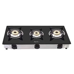 98dd7831000 Pigeon 3 Burner Glass Top Gas Stove