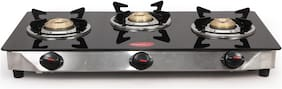 Pigeon BLACKLINE SMART 3 Burners Stainless Steel Gas Stove - Blue