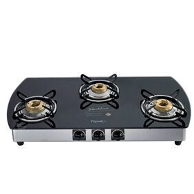 Pigeon Blackline Oval Gas Stove 3 Burner - Manual Ignition