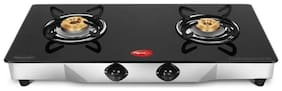 Pigeon BLACKLINE SQUARE 2 Burners Stainless Steel Gas Stove - Black , Auto Ignition