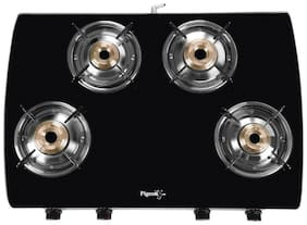 Pigeon Blackline Oval 4 Burner Regular Assorted Gas Stove