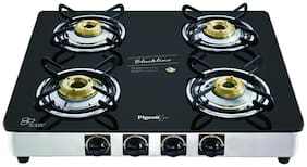 Pigeon BLACKLINE SQUARE 4 Burners Gas Stove - Black