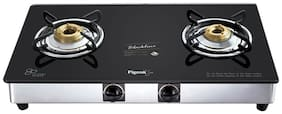 Pigeon Blackline square 2 Burner Regular Black Gas Stove ,