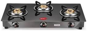 Pigeon Carbon 3 Burner Regular Black Gas Stove