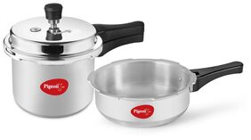 3 Ltr Pressure Cooker & 2 Ltr Pressure pan With Lid & Induction Bottom.