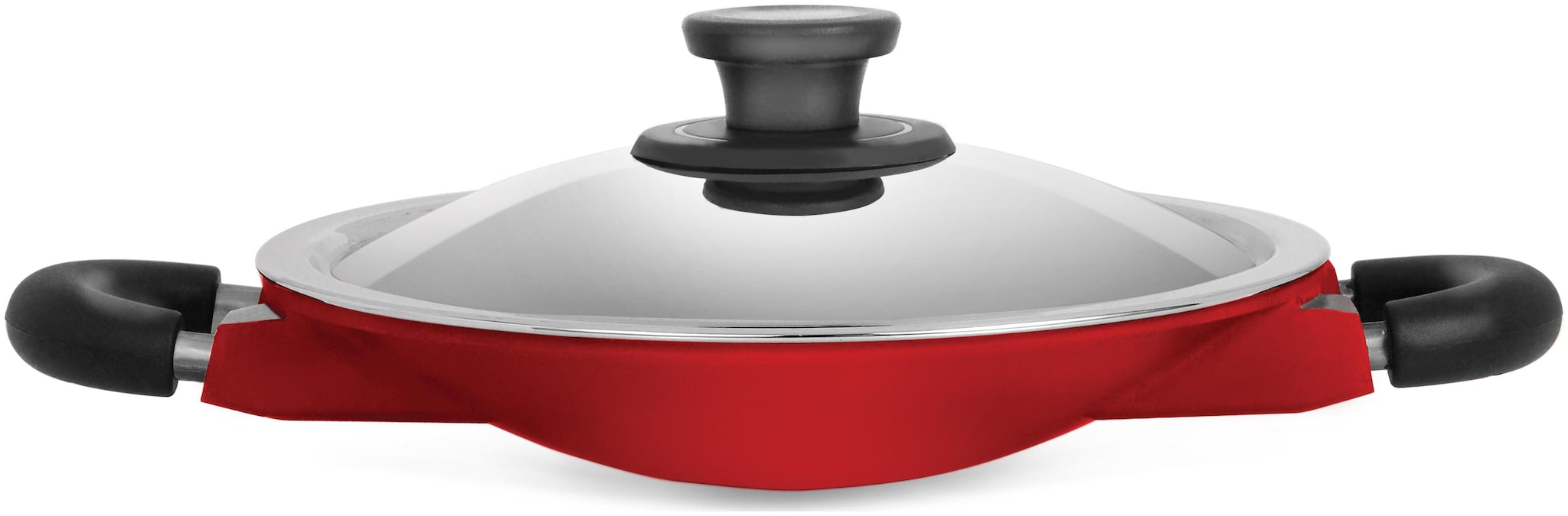 Pigeon Die Cast Wondercast Appachetty with Lid Flat Pan 20 cm diameter with Lid   Aluminium, Non Stick