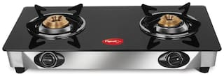 Pigeon FAVOURITE 2 Burners Stainless Steel With Glass Top Gas Stove - Assorted
