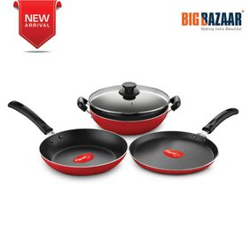 Pigeon Forged Non-stick 4pc Cookware Set