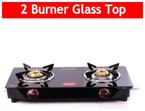 Pigeon aster 2 Burner Regular Black Gas Stove ,