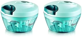 Pigeon Handy chopper;triple blade;green colour with pull cord technology Vegetable Chopper (2 Handy Chopper)