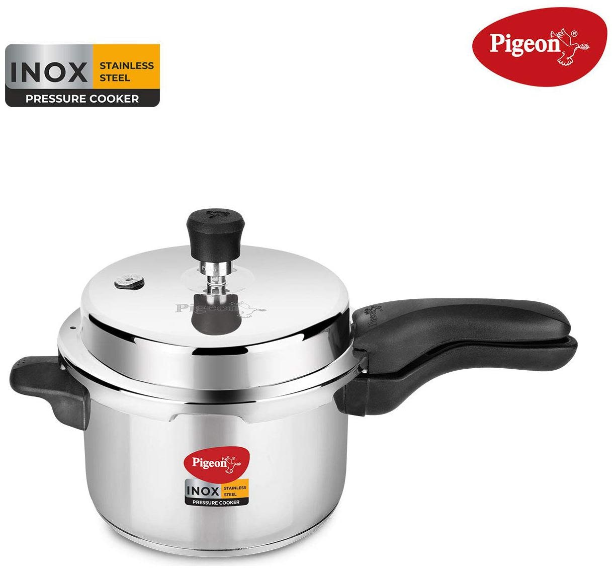 Pigeon Inox 3 L Induction Bottom Pressure Cooker (Stainless Steel)
