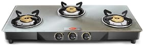 Pigeon 3 Burners Gas Stove - Silver