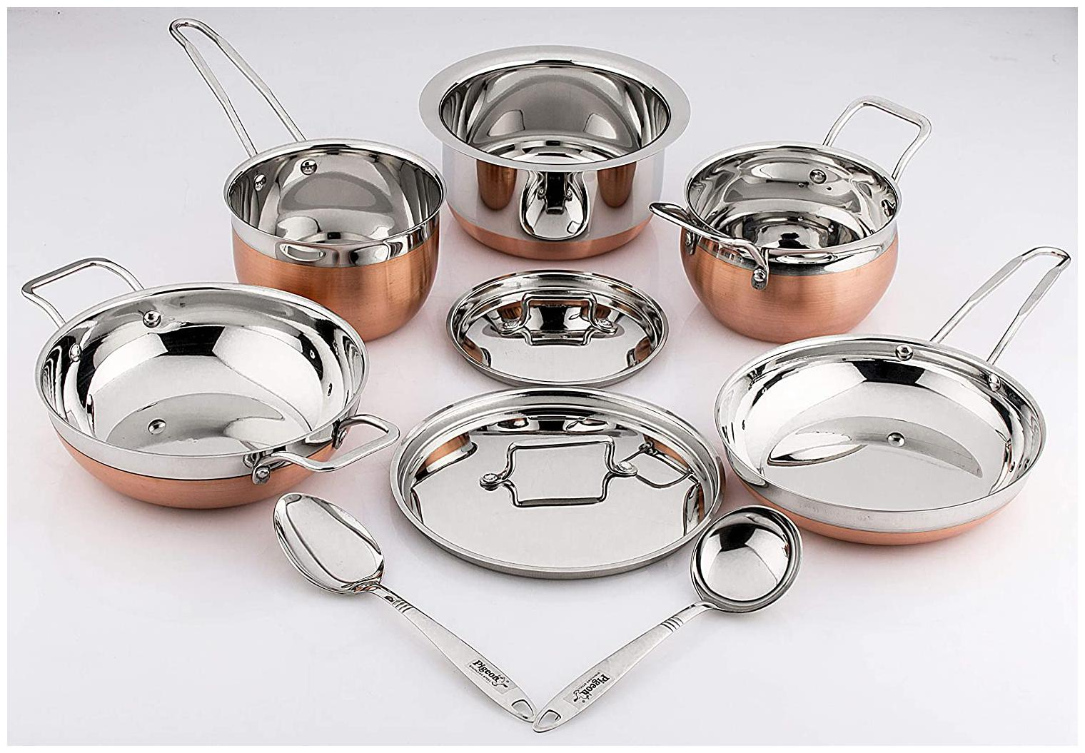 Pigeon Neo Cookware Set;9 Pieces;Silver