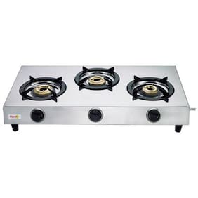 Pigeon neptune 3 Burner Regular Silver Gas Stove