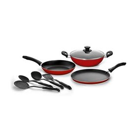Pigeon Non Stick Cookware Set (Pack of 8)