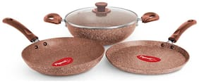 PIGEON Non Stick GIFT SET - GRANITO 4 PC IB - Earthy Brown